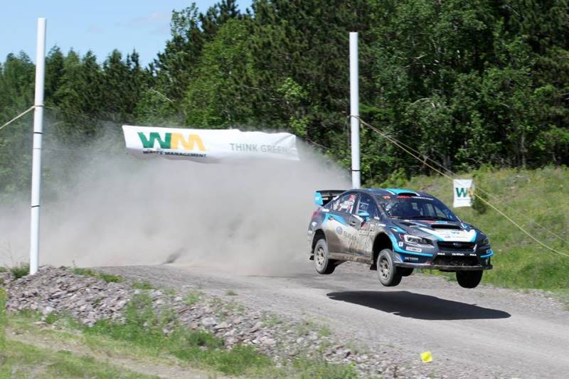Subaru Rally Team USA's David Higgins and co-driver Craig Drew took the overall win at the STPR 2017 (Photo: Lori Lass Photography)