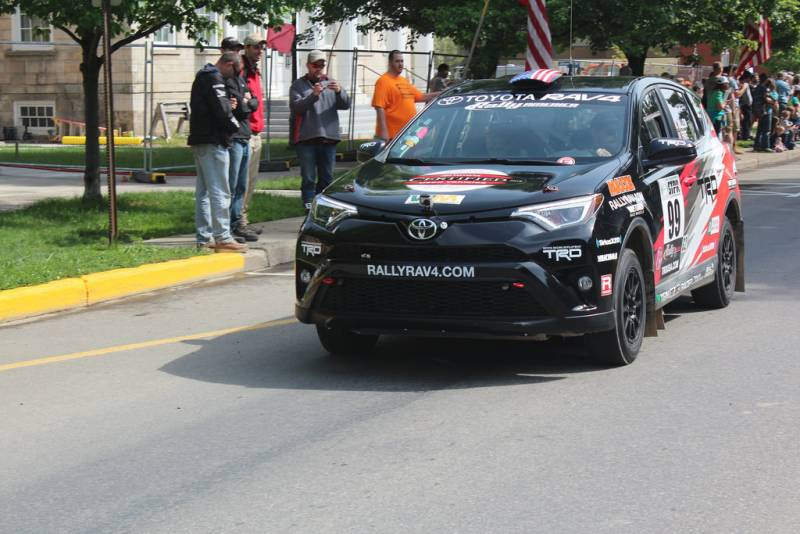 Ryan MIllen at the parade start from The Green in Wellsboro, Pennsylvania. (Maryanne Shults)